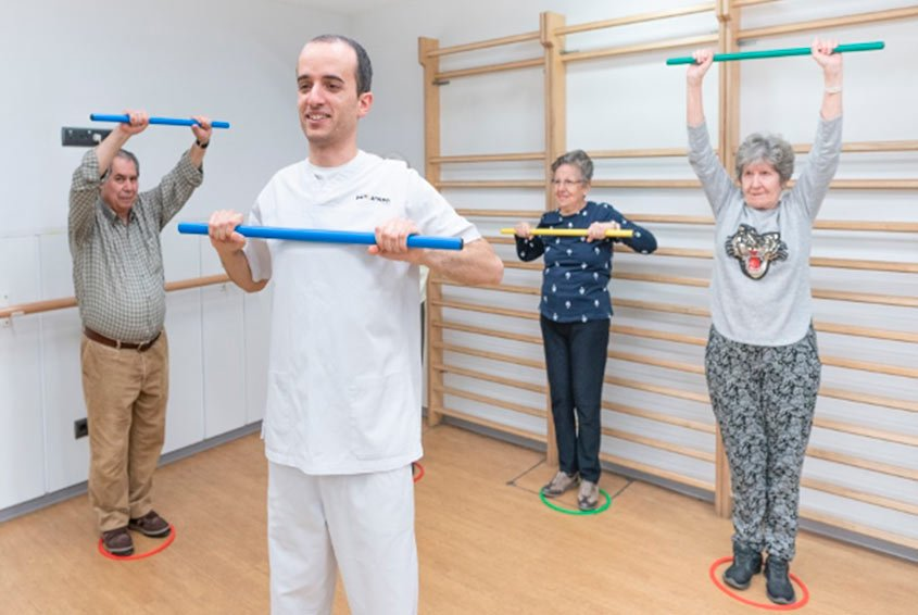 Group physiotherapy session